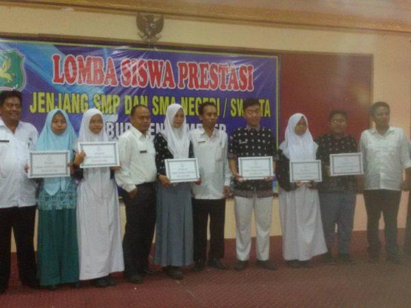 Juara I Siswa Berprestasi 2016 Dinas Pendidikan Sumenep